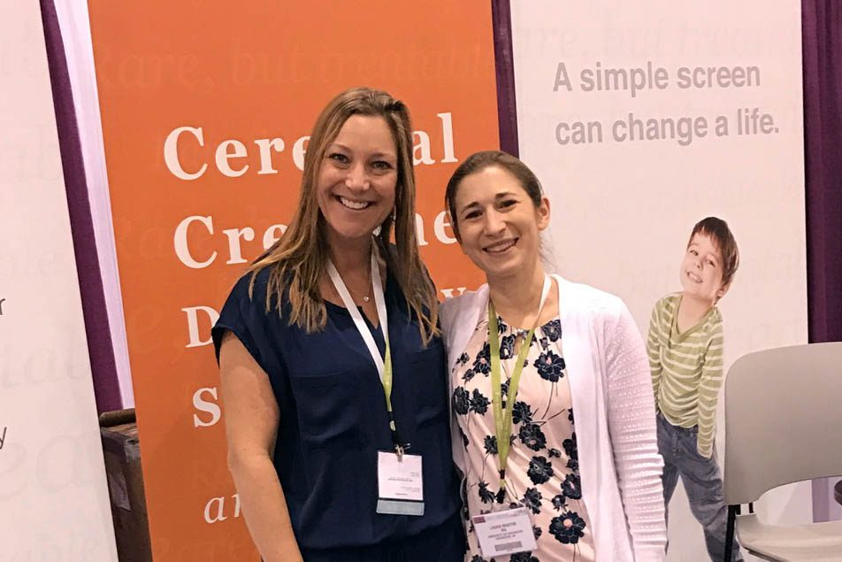 Laura Martin and Kim Tuminello at ACMG 2017
