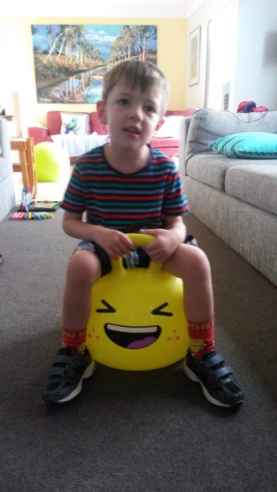 William on his Hopper Ball