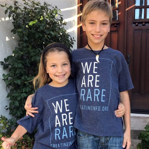 Ty and Paige wearing We are Rare t-shirts for CCDS day.