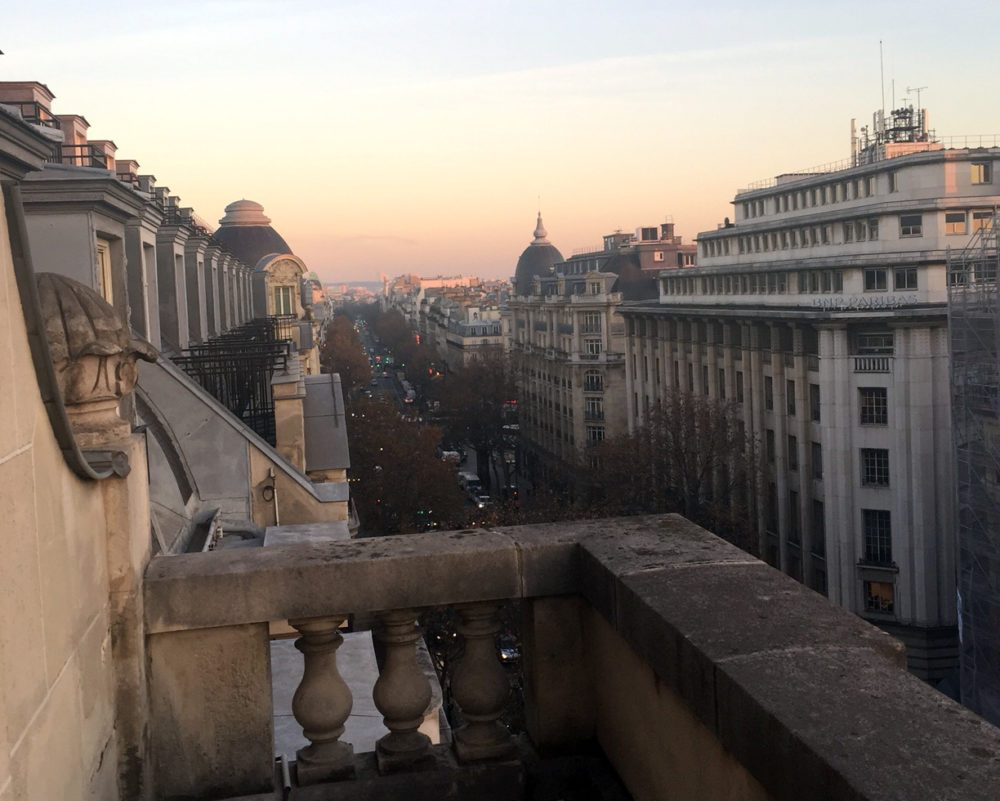 Balcony view of Paris