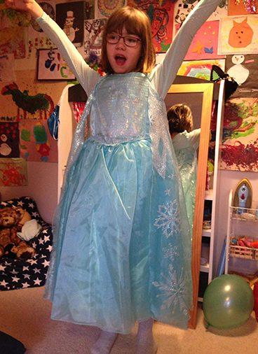 Holy dressed up as a princess