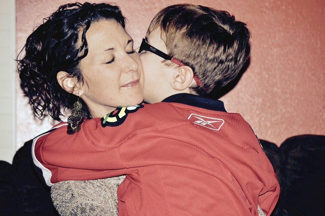 Benny hugging Beth