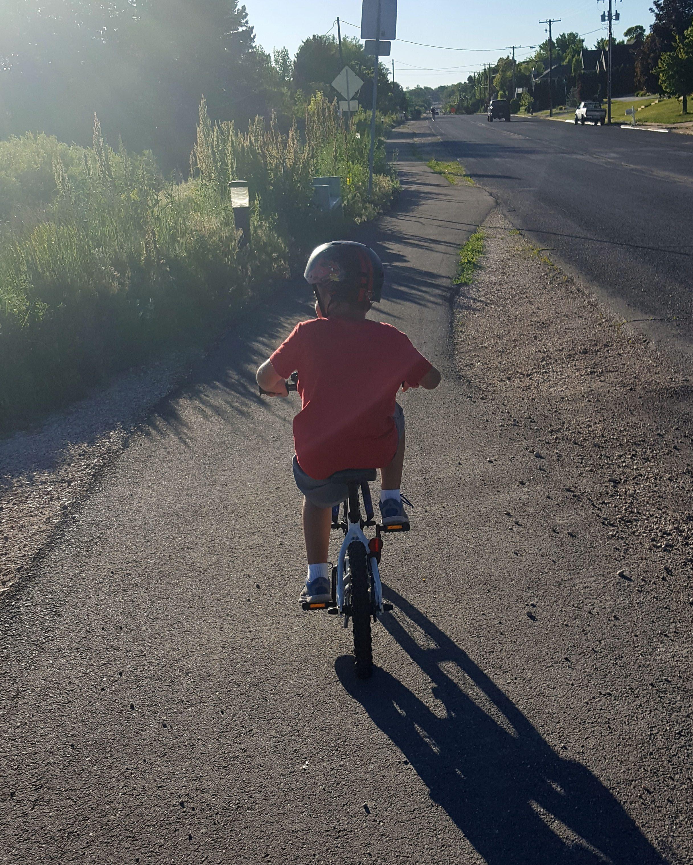 Levi riding bike