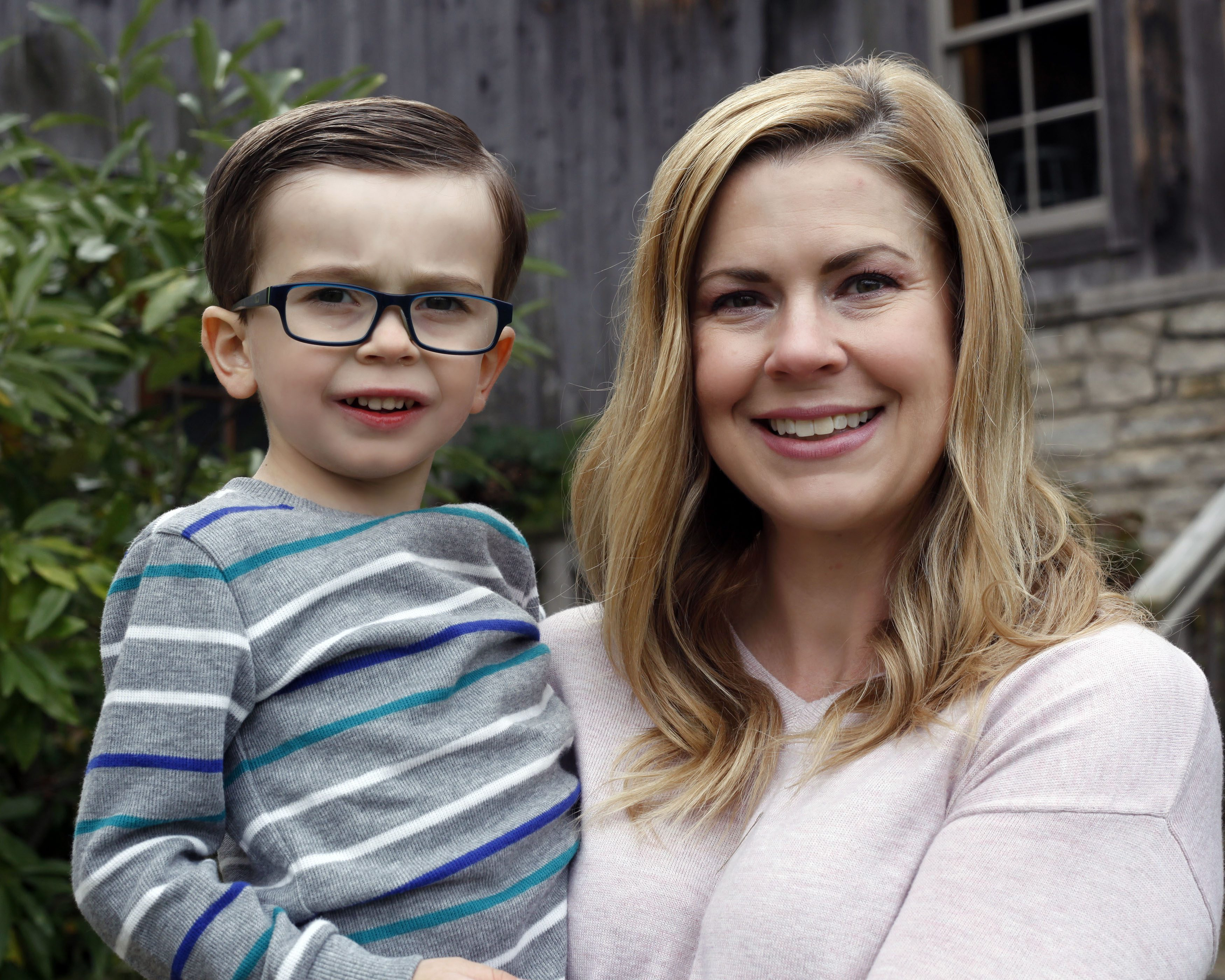 Amy and son